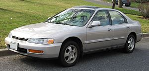 1996-1997 Honda Accord photographed in USA.