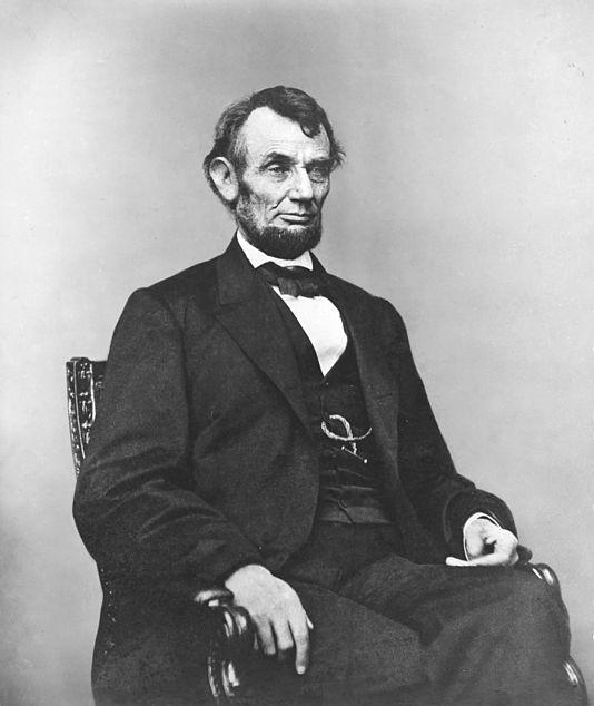 Abraham Lincoln seated, Feb 9, 1864.jpg