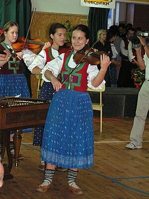 Česky: Cimbálová muzika folklórního souboru Ma...