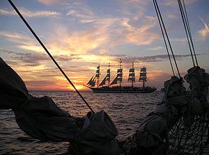 Deutsch: Fünfmastvollschiff Royal Clipper vor ...