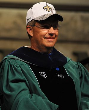 Gregg Williams at the 2010 commencement ceremo...