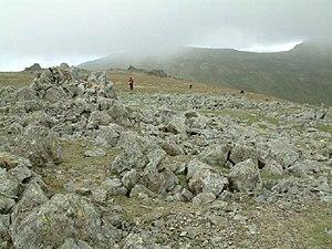 Grey Friar. The summit area of Grey Friar, loo...