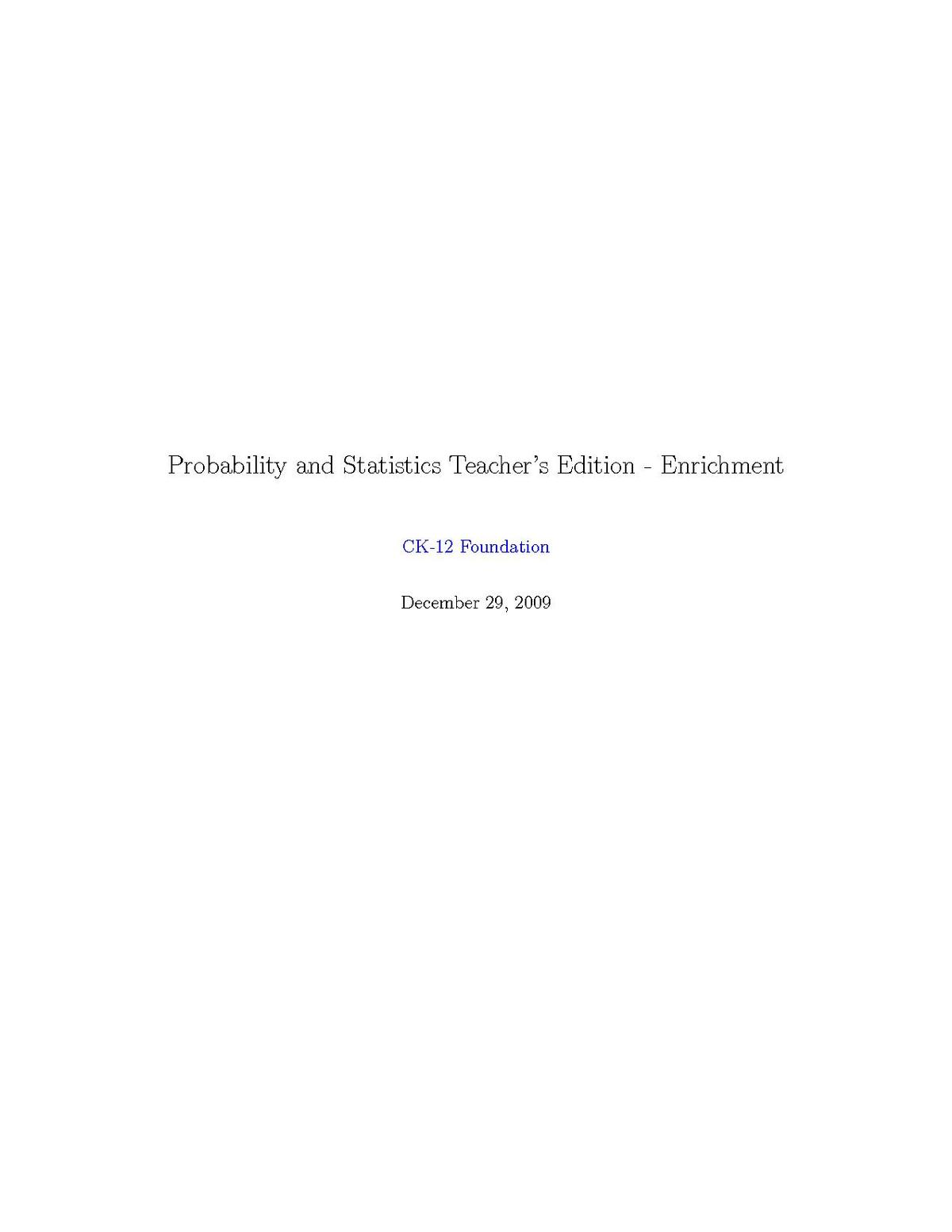 File High School Probability And Statistics Enrichment