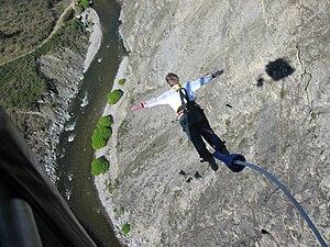 English: Jump from Nevis Bungee Platform near ...