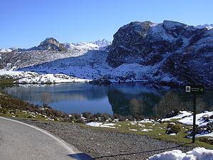 El Lago Enol, en los Picos de Europa