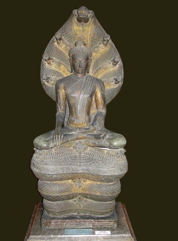 Mucalinda Sheltering Buddha. Bangkok National Museum, b092