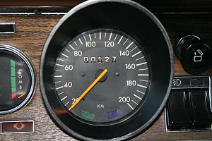 odometer of brazilian chevrolet opala