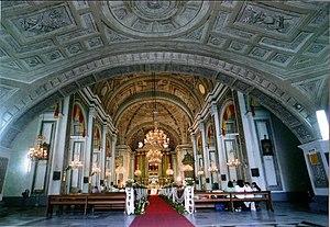 English: Interior of San Agustin Church, Manil...