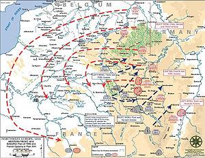 The Schlieffen Plan, emphasizing maneuver and ...