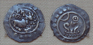 English: Silver_coin_of_king_Nitichandra_Araka...