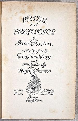 Title page. Austen, Jane. Pride and Prejudice....