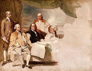 "Benjamin West painting titled ""American C..."