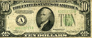A Series 1934 A US $10 Note