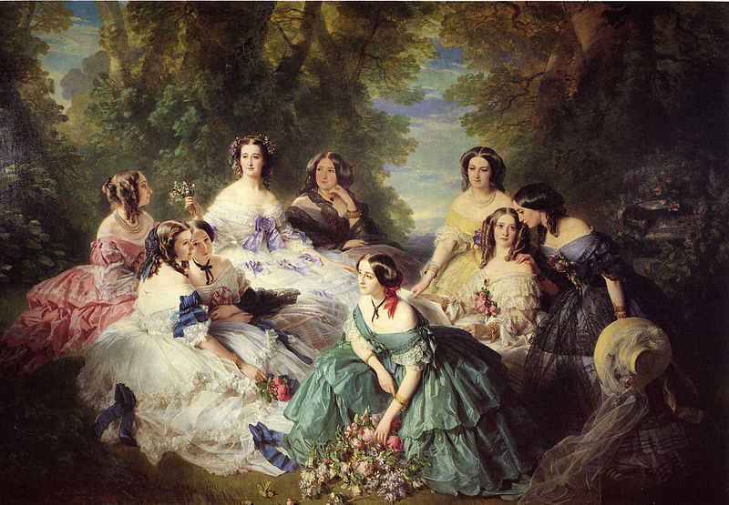 Istorija odevnih predmeta - Page 7 800px-Winterhalter_Franz_Xavier_The_Empress_Eugenie_Surrounded_by_her_Ladies_in_Waiting