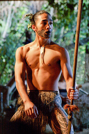 Young Maori man. Apparently (based on Flickr t...