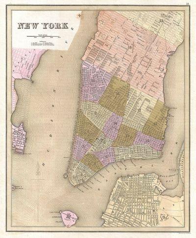 File:1839 Bradford Map of New York City, New York ...