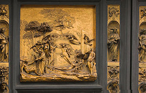 Adam and Eve by Ghiberti (Panel 1 of the Gates...