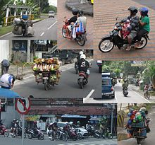 One of the major forms of transport in Bali is the scooter