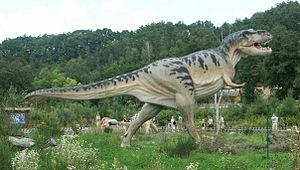 Tyrannosaurus Rex model in Bałtów Jurassic Par...