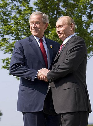 President George W. Bush of the United States ...
