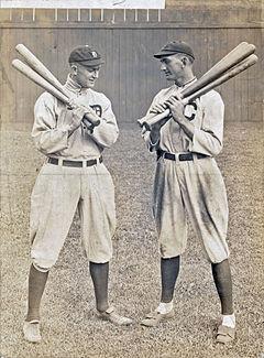 Ty Cobb y Joe Jackson en Cleveland