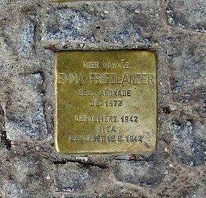 Deutsch: Stolpersteine vor dem Haus Güntzelstr...