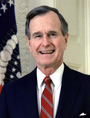 Official portrait of George H. W. Bush, former...