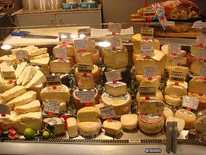 Italian cheeses.