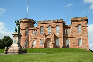 The castle in Inverness