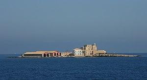 Isola Formica tra Trapani e Favignana, Sicilia...