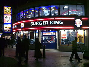 English: Burger King Branch, Leicester Square,...