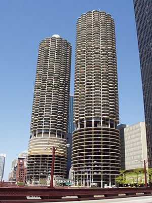 Marina City in Chicago, Illinois, United State...