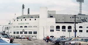 English: Outside of Old Comiskey Park Chicago 1986