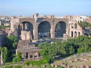 Remains of the Basilica of Maxentius and Const...
