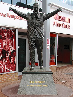 Shankly statue out front