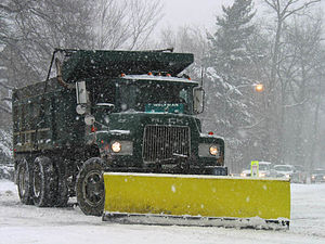 A snowplow clearing snow from the North Americ...
