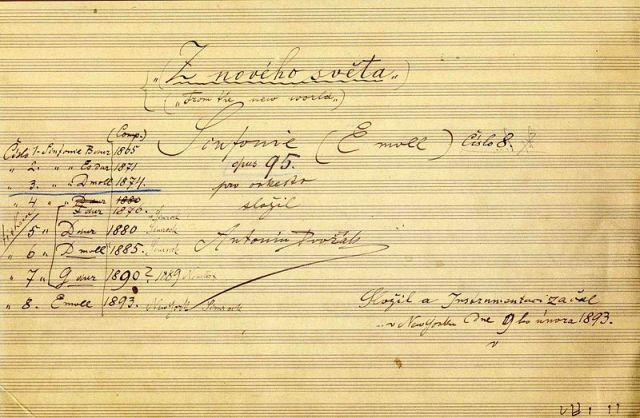 File:The title page of the autograph score of Dvořák's ninth symphony.jpg