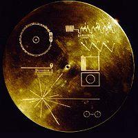 Il Voyager Golden Record, fotografia di dominio pubblico.