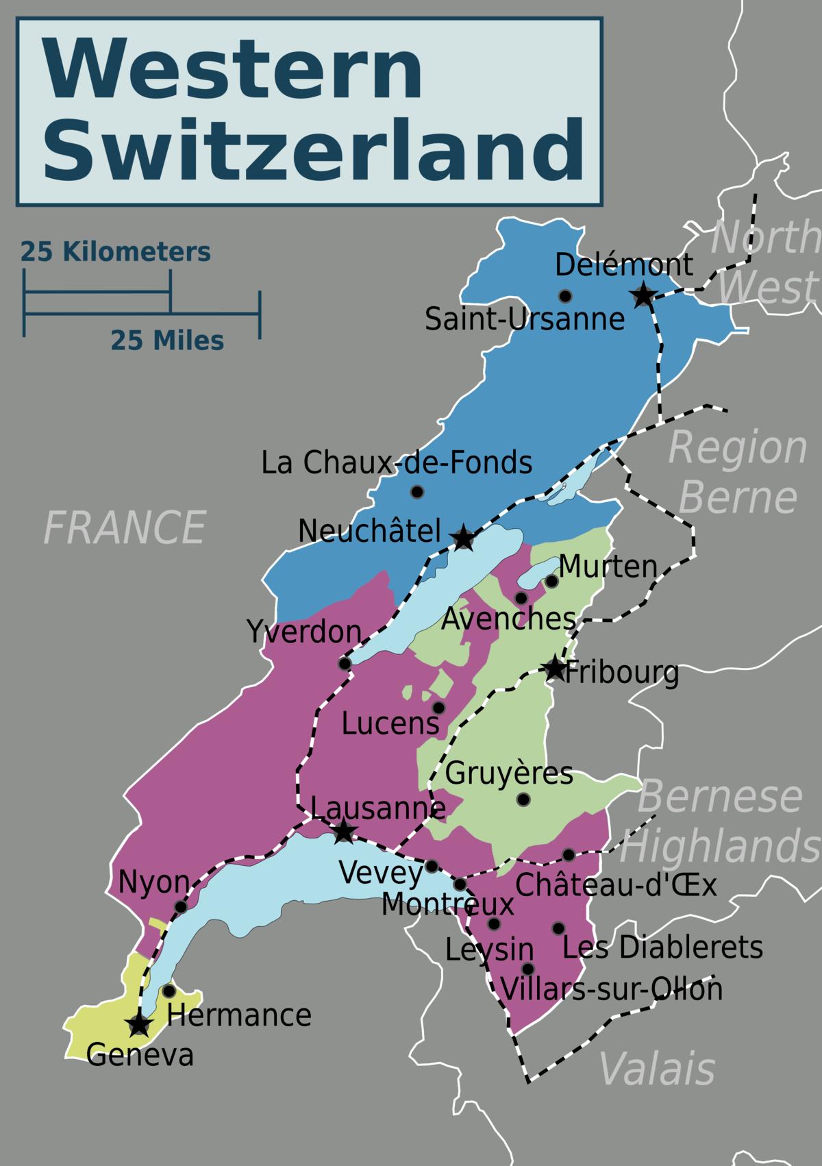 Western Switzerland Travel Guide At Wikivoyage