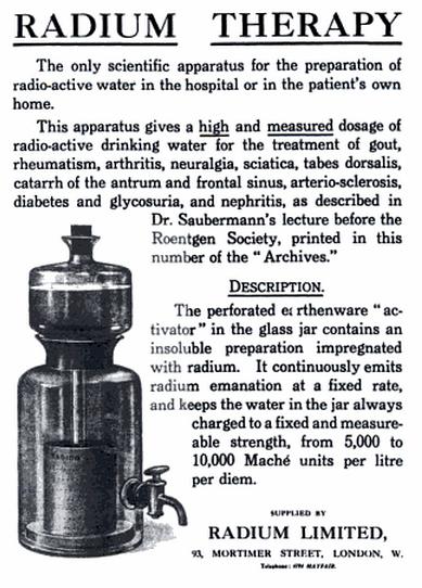 """Radium Therapy"" ad"