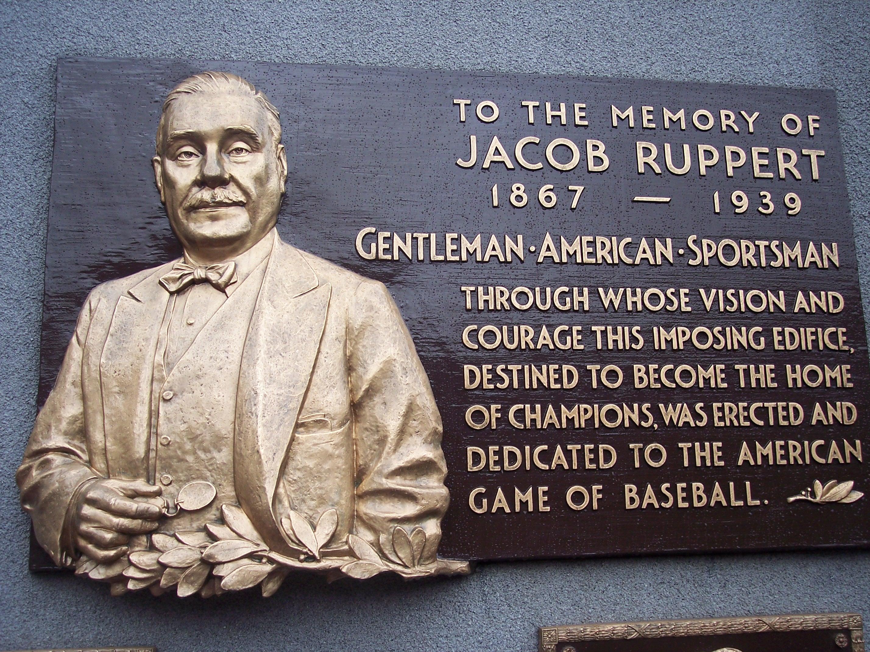 Jake Ruppert for the HOF!