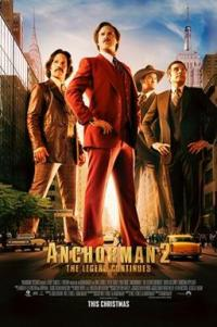 Poster for 2013 comedy sequel Anchorman 2: The Legend Continues