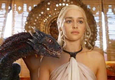 Daenerys Targaryen with Dragon Emilia Clarke Platinum Blonde At Home Hair Color