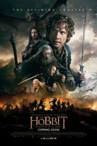 Poster for 2014 fantasy sequel The Hobbit: The Battle of the Five Armies