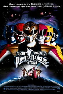 Teaser poster for Mighty Morphin Power Rangers...