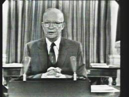 President Dwight Eisenhower delivers his farew...