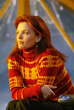 Dina Meyer as Oracle from the television serie...
