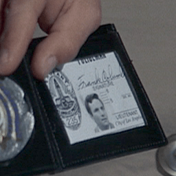 Columbo's warrant card and badge in the episod...