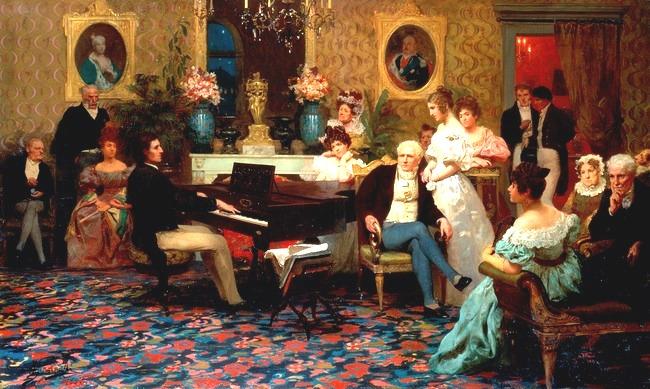 Chopin Playing the Piano in Prince Radziwill's Salon