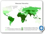 Map of countries by maternal mortality